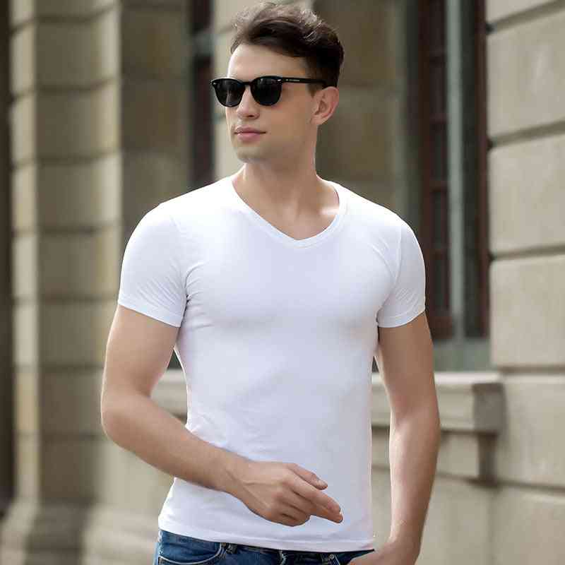 Short Sleeve Cotton Fitness T-shirts For Men