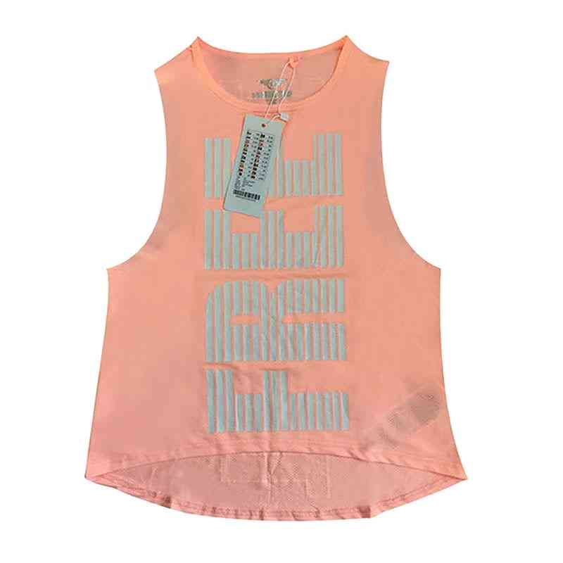 Quick-dry, Sexy, Letter Printed Women Sports Top