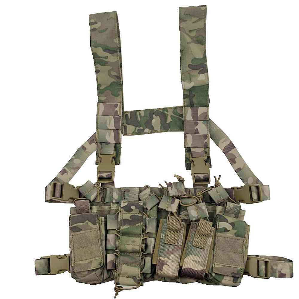 Tactical Chest Rig Bag-with Radio Harness-military Vest