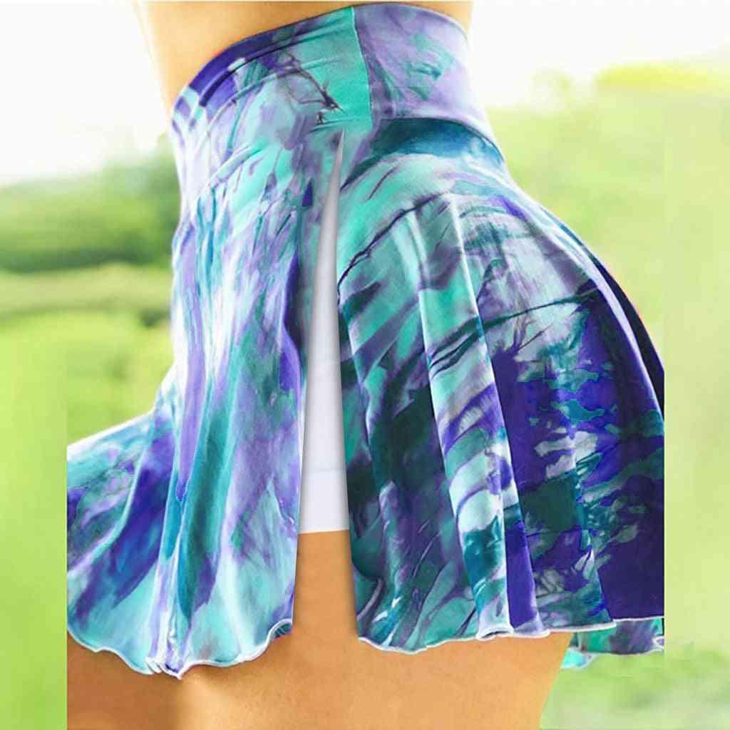 Women Basic Slip Workout Split Shorts/hakama
