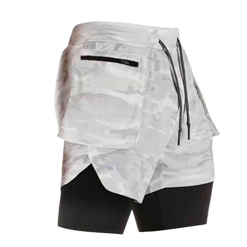 Phone-pocket Running And Gym  Shorts For Men