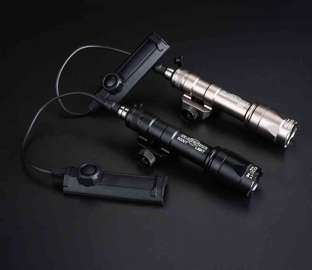 Airsoft Surefire Scout Light Tactical Weapon Light Torch With Dual Function Switch Pressure