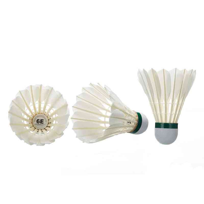 Professional Badminton Shuttlecock White Feather Ball Club King Sports Accessories