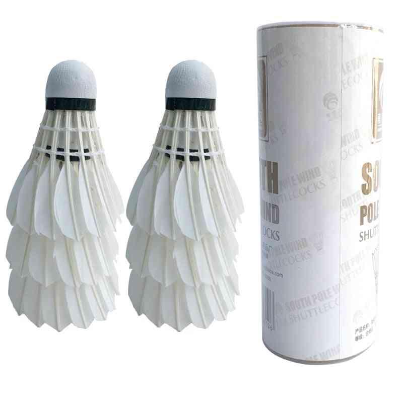 White Goose Feather Durable Badminton Shuttlecock
