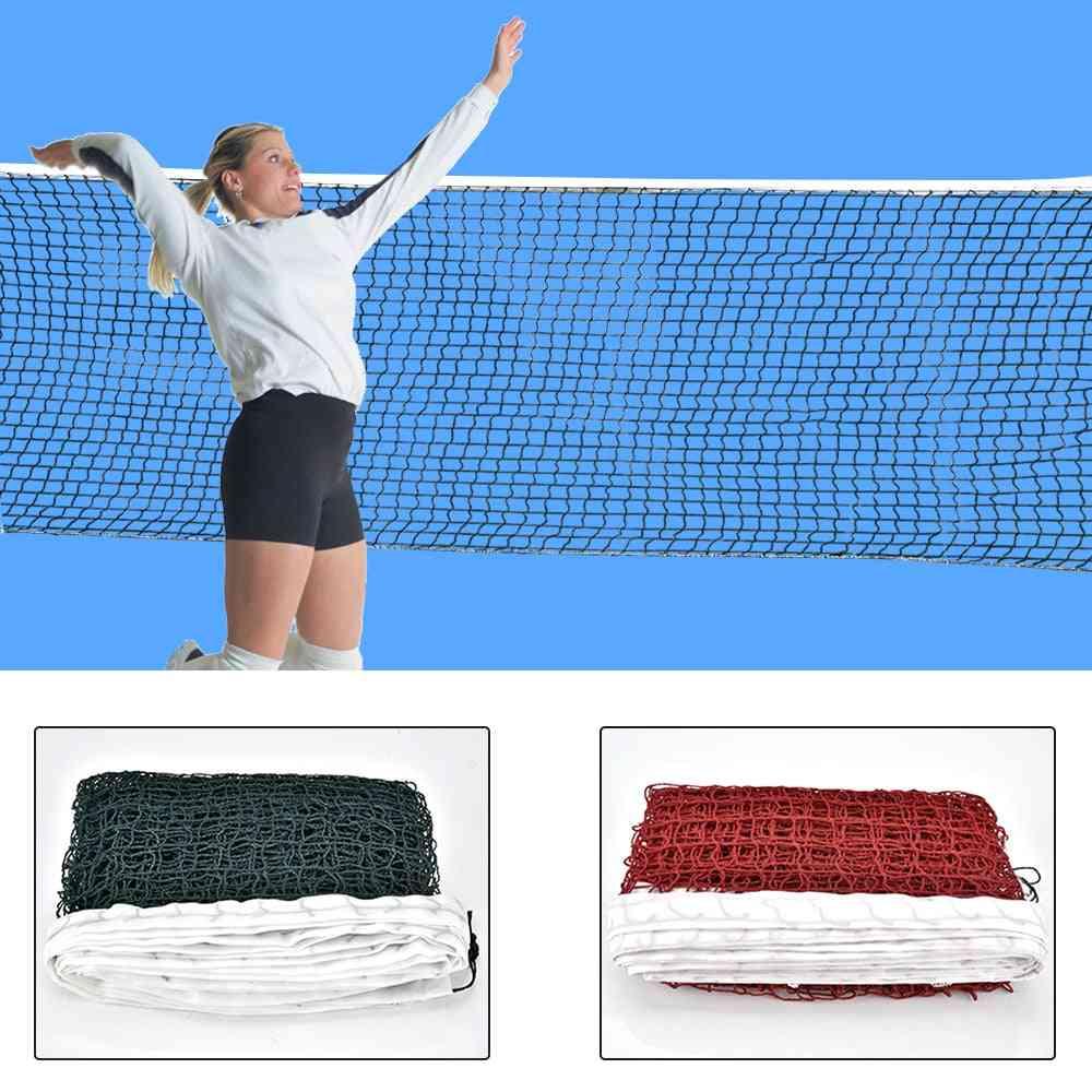 Sports Training Standard Badminton Net, Outdoor Tennis Net Mesh Volleyball Net Exercise