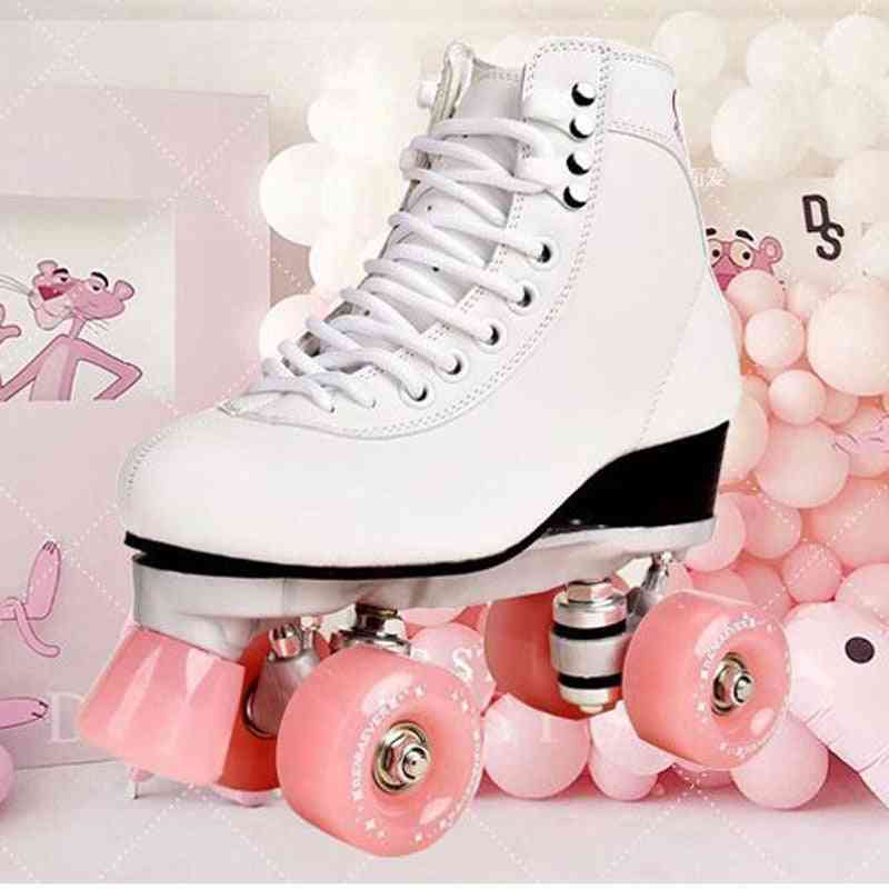 Double-row Roller, Four-wheel Skates Shoes For Adult, Men And Women, Outdoor Skates
