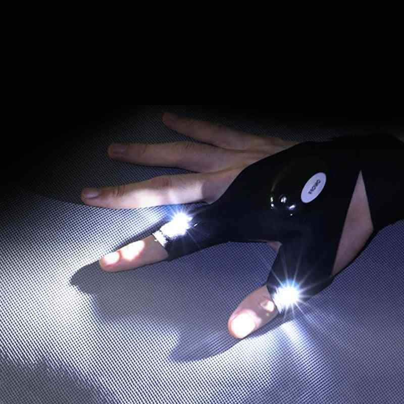 Waterproof Fishing Gloves With Led Flashlight