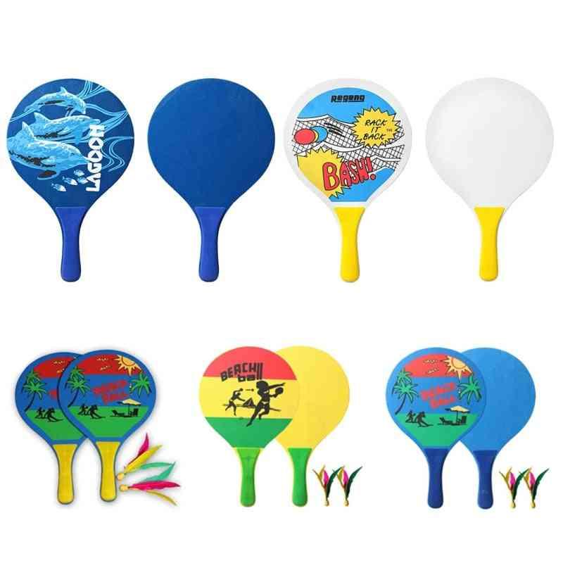 Board Beach Badminton Racket And Ball Set