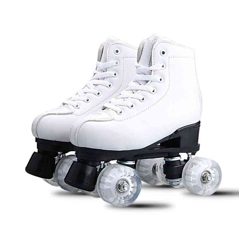 Double-row, Skates Roller, Outdoor Sports Shoes For Adult, Male And Female