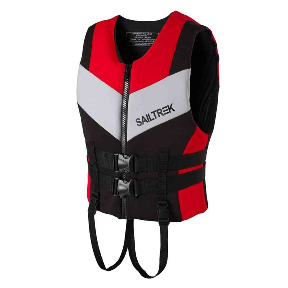 Life Safety Vest Jacket For Water Sports, Fishing, Boating, Swimming, Drifting For Adult