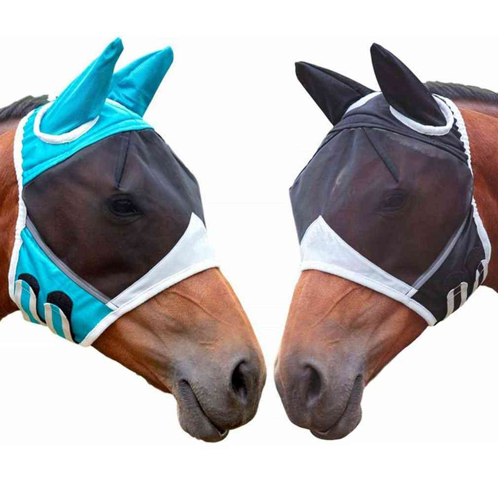 Horse Face Mesh Mask With Nasal Cover- Anti-mosquito Bandage