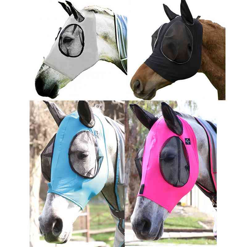 Detachable Horse Face And Head Ear Cover