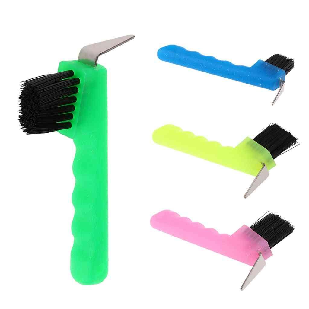 Hoof Pick With Brush-horse Grooming Tool