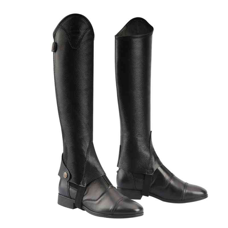 Half-chaps Leather Men Women, Comfortable And Breathable Knight Equipment Protect Knight Leg