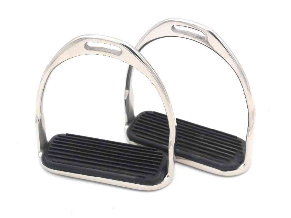 Horse Riding Stirrup Equestrian Stainless Steel Anti-slip Pad High Quality Saddle