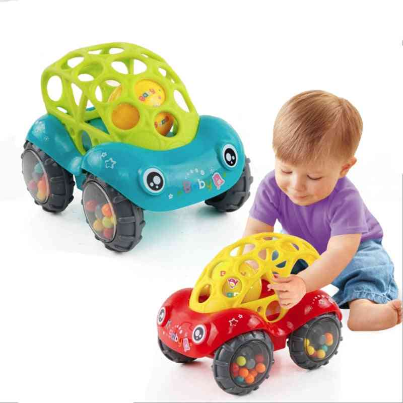 Baby Car Doll Toy, Crib Mobile Bell Rings Hand Catching Ball
