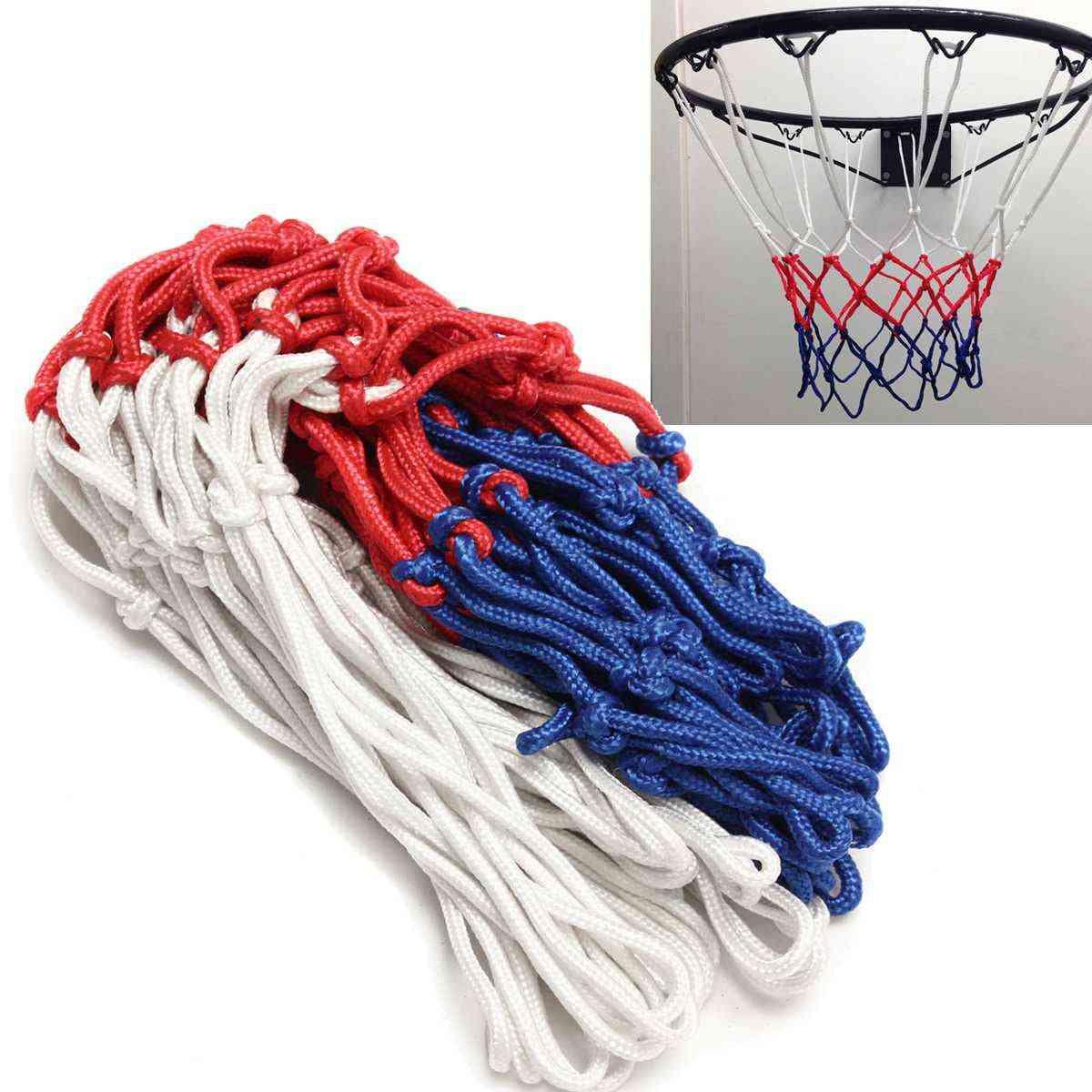 Basketball Rim Mesh Net, Durable Heavy Duty Nylon Hoop Goal Fits Standard