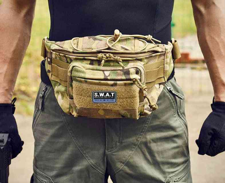 Waterproof Tactical Waist Bag For Outdoor Sports-utility Pouch