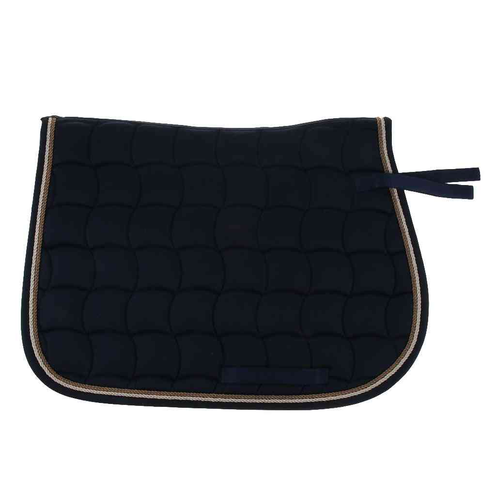 Cotton Quilted Horse Saddle Pads With Piped Edge