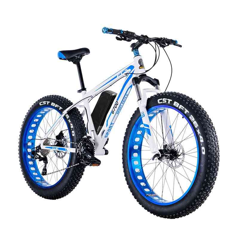 Electric Mountain Bike With Fat Tire And Double Disc Brake