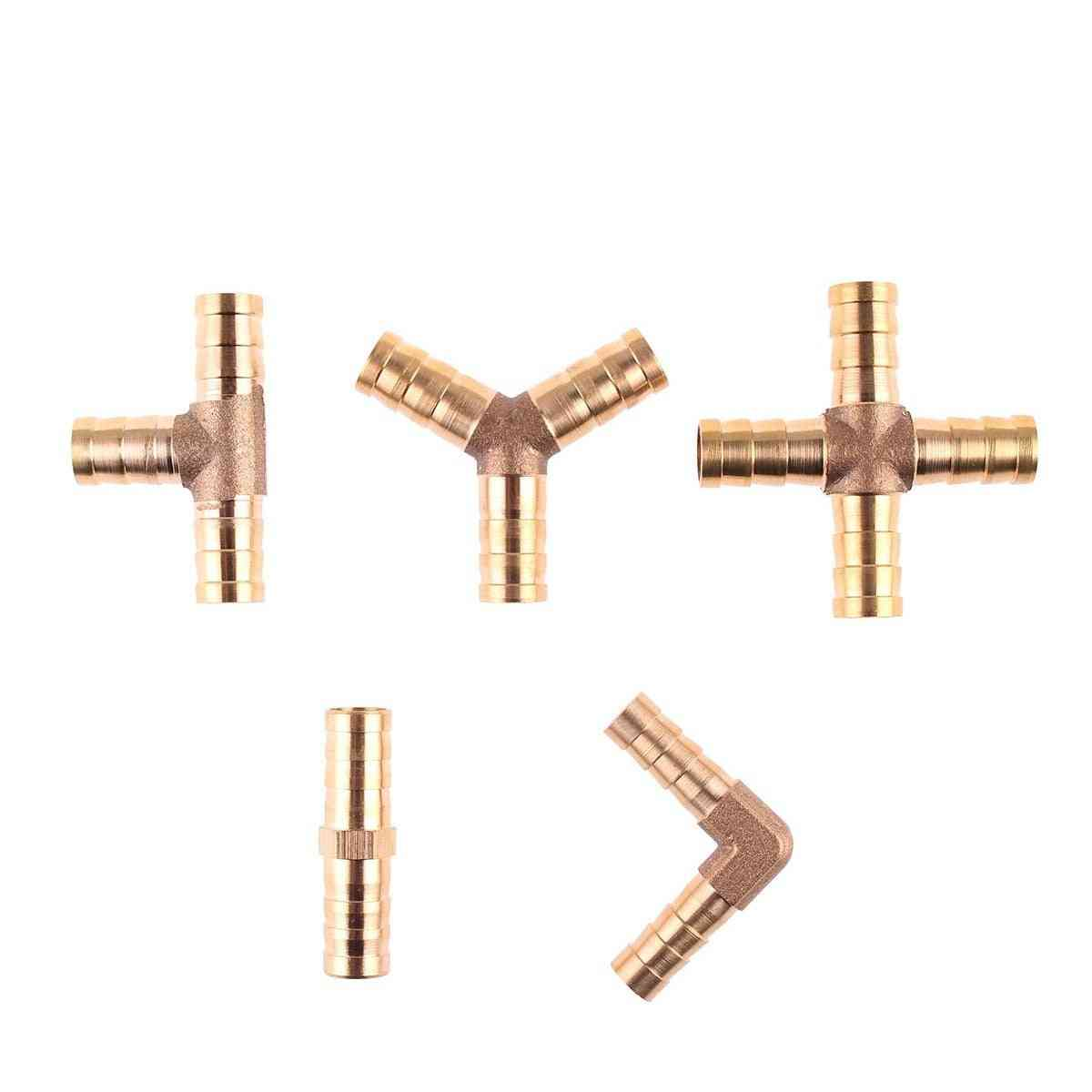 Brass Barb Pipe Fitting Straight Elbow Hose, Copper Barbed Connector Joint Coupler Adapter