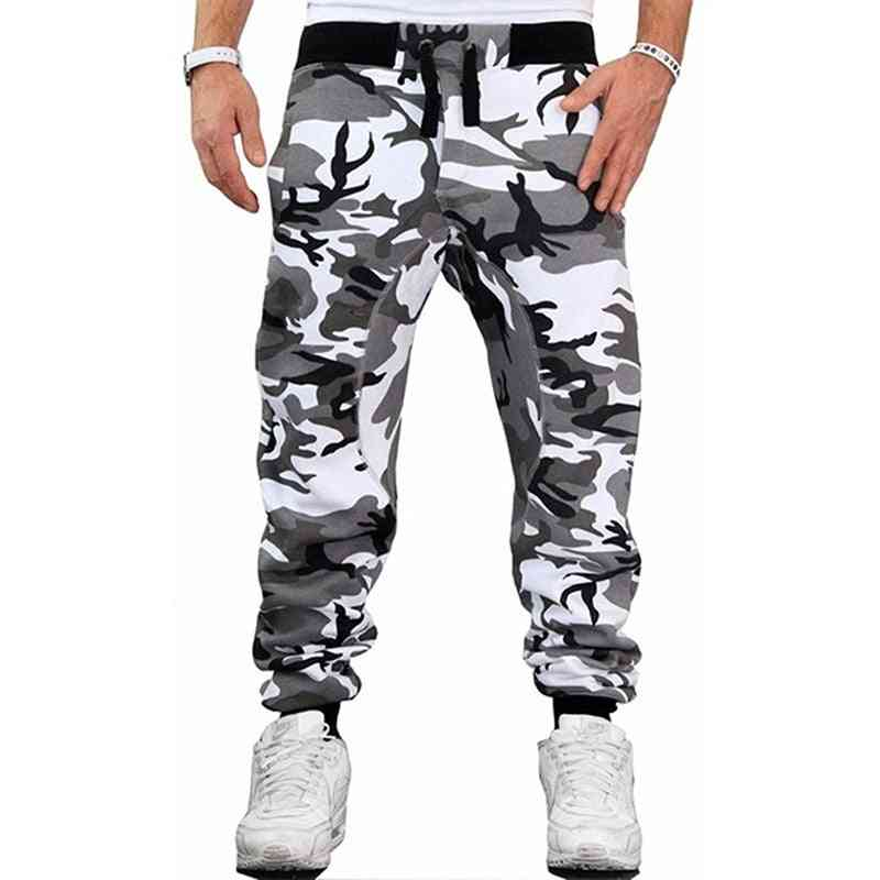 Male Fashion Casual Slim, Middle Waist Fitness Pants Trousers