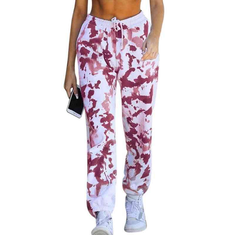 Women High Elastic Waist Trousers Loose Pants