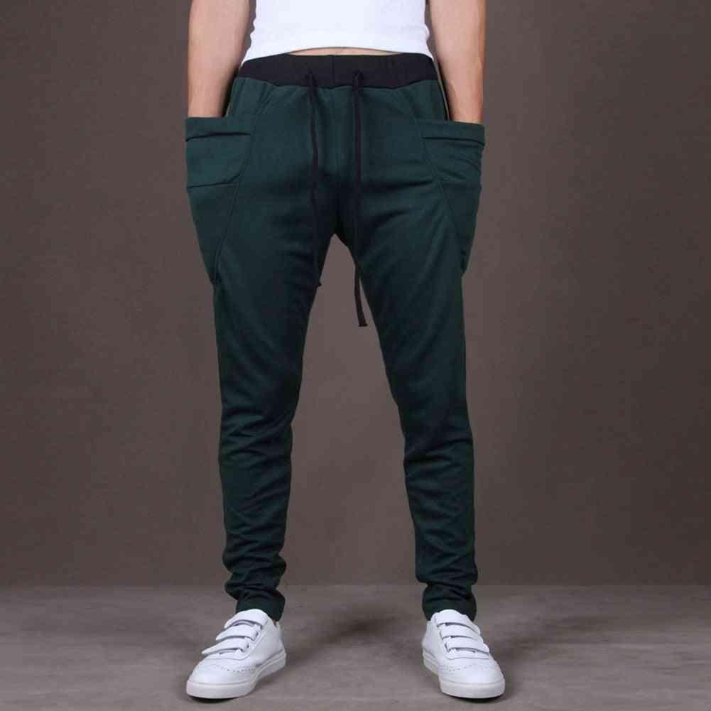 Fashion Men Joggers Sweatpants- Big Pockets Gym Trousers Hip Hop Pants