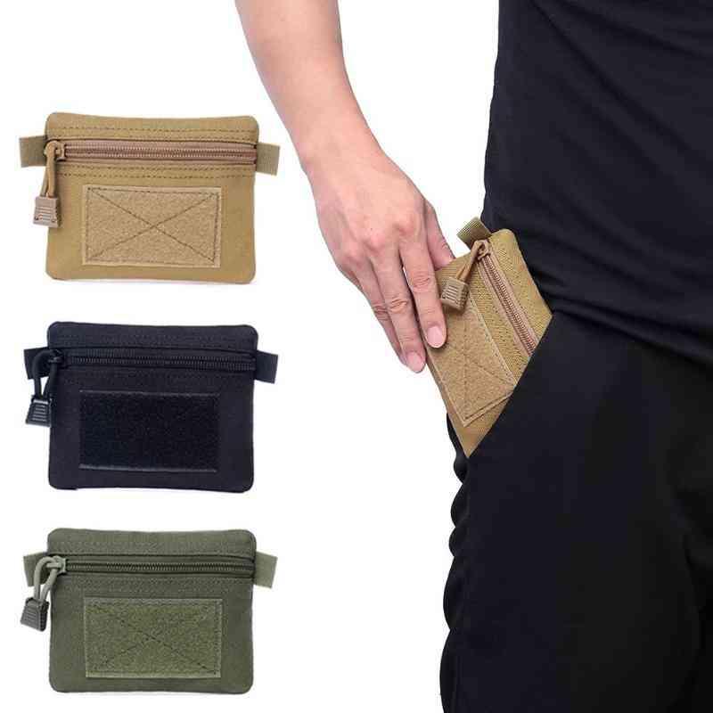 Outdoor Edc Molle Pouch Wallet, Travel Zipper Waist Bag