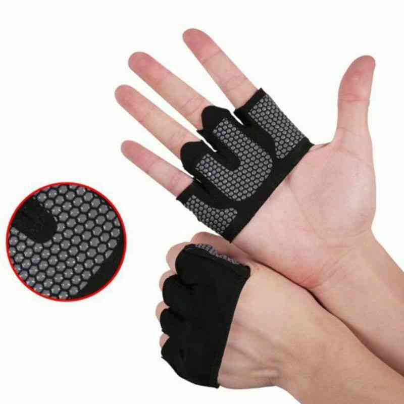 Unisex Half Four-finger, Non-slip Fitness Gym Gloves/women