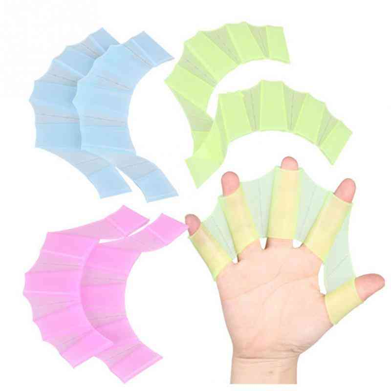 Unisex Frog Type Silicone Girdles Swimming Hand Fins Flippers Finger Webbed Gloves