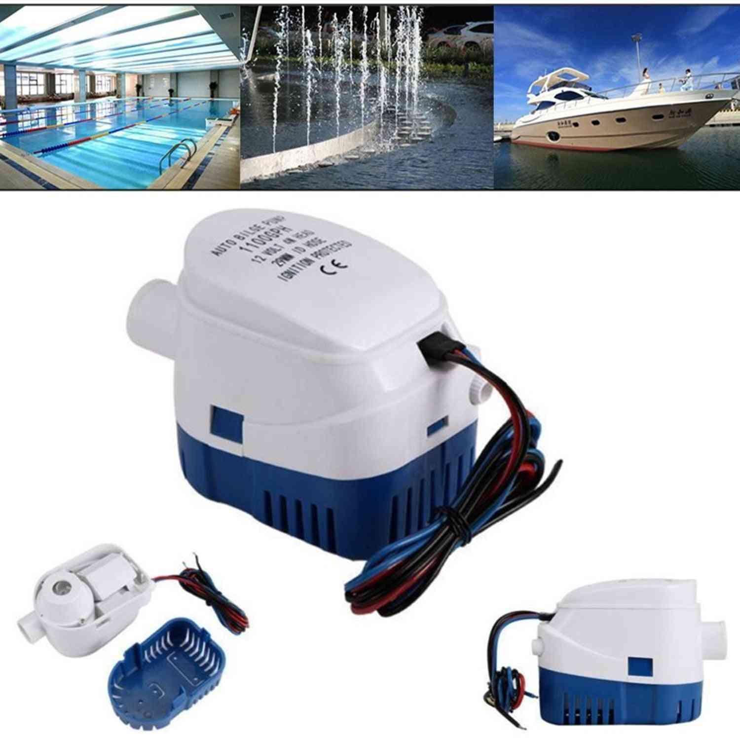 Stainless Steel, Bilge Auto Water Pump, Control Water Level, Pool Racing Boats Part