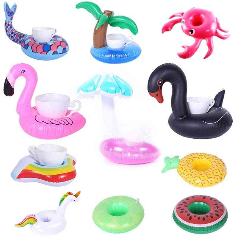 Inflatable Cup Holder Unicorn Flamingo Drink Holder For Swimming Pool