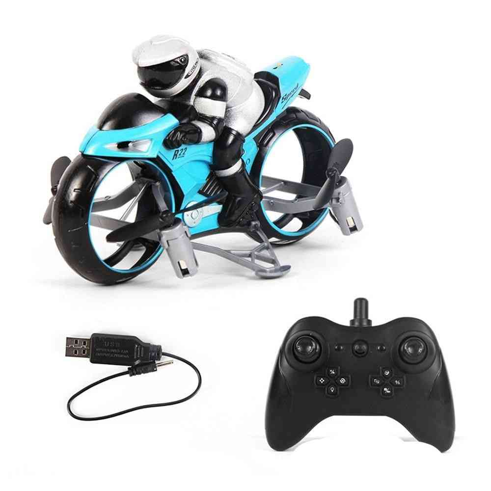 2 In 1 Mini Electric Racing Motorbike And Drone Toy