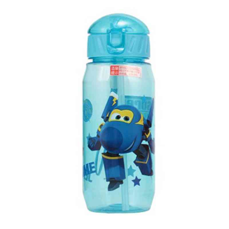 Cartoon Print  Drinking Water Bottle With Straw For Kids