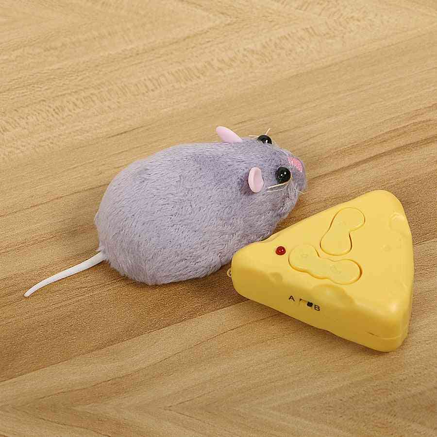 Wireless Remote Control Mouse And Cheese-emulation Trickey For Cat/dog/rat