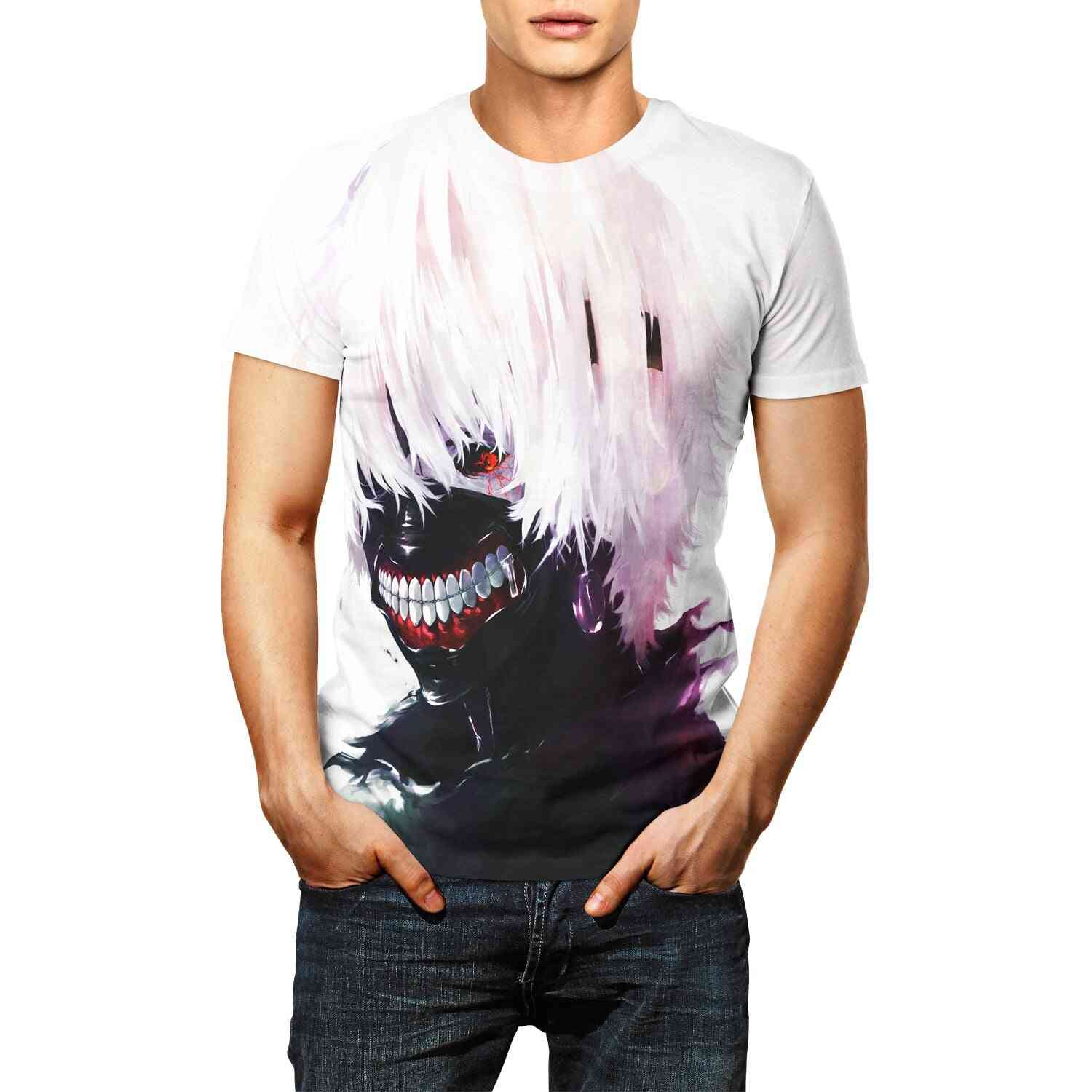 Tokyo Ghoul Anime Printed-casual T-shirts