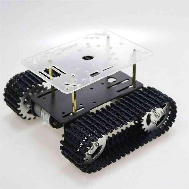 Smart Robot Tank Chassis Tracked Car With Motor