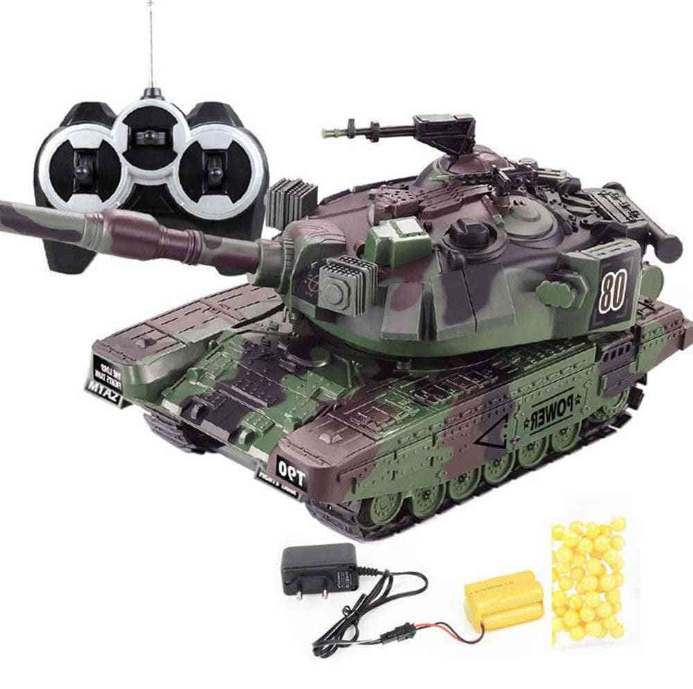 Military War Rc Battle Tank Interactive Remote Control Toy Car With Shoot Bullets