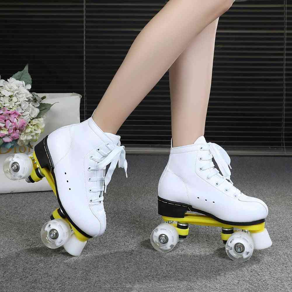 Adult Double Row, Roller Skate Shoes