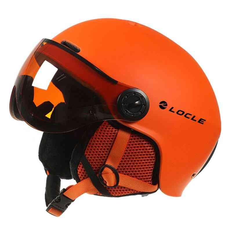 Men/women Sports Ski Helmet With Goggles