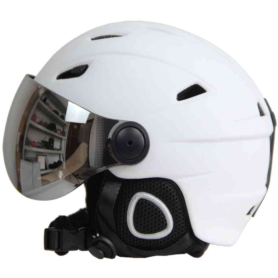 Half-covered Outdoor Sports Ski Helmet With Goggles
