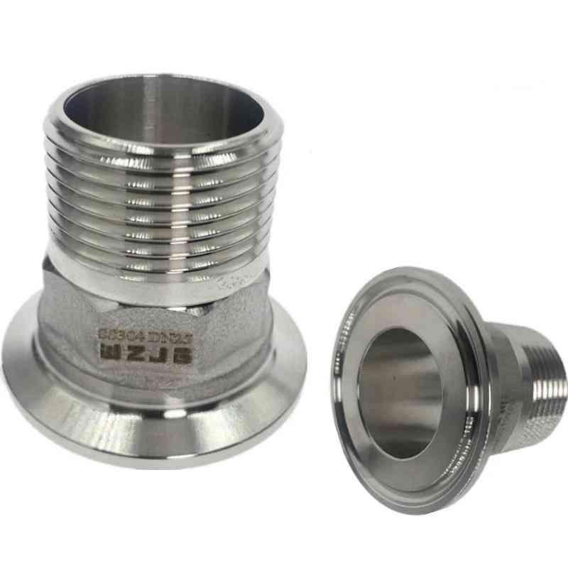 Stainless Steel Sanitary Male Threaded Ferrule Od Tri Clamp