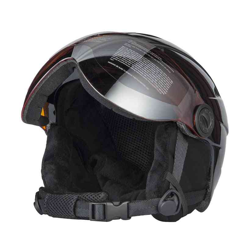 Half-covered Ski Helmet With Goggles For Outdoor Sports