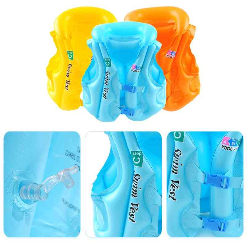 Life Vest Swimming Jacket, Inflatable Float, Learn To Swim Boating For Baby, Kids