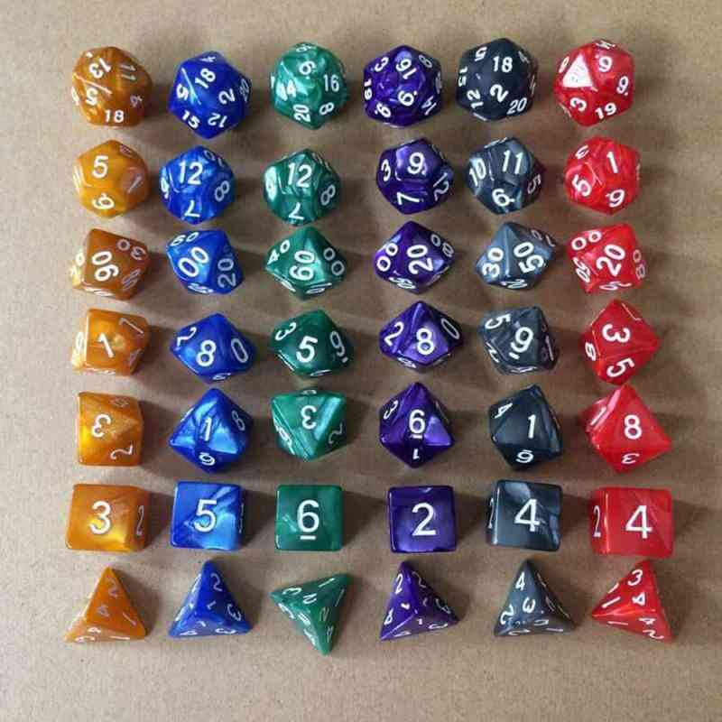 Multifaceted Dice, Polyhedral Trpg Games Set, Board Entertainment