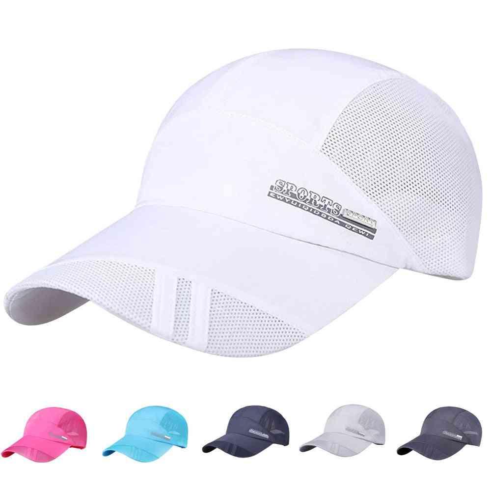 Women Running Cap, Sun Outdoor Sunscreen Baseball Mesh Hat