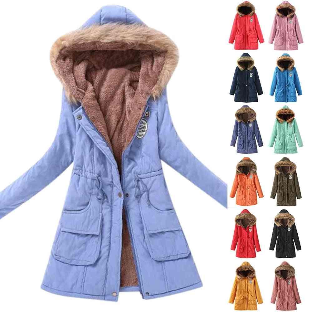 Women Cotton Winter Jacket, Outwear Long Coat