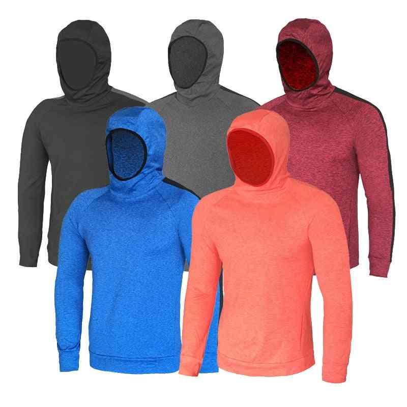 Men's Running Jacket, Long Sleeve Hoodie, Sport Gym Hiking Sweatshirts