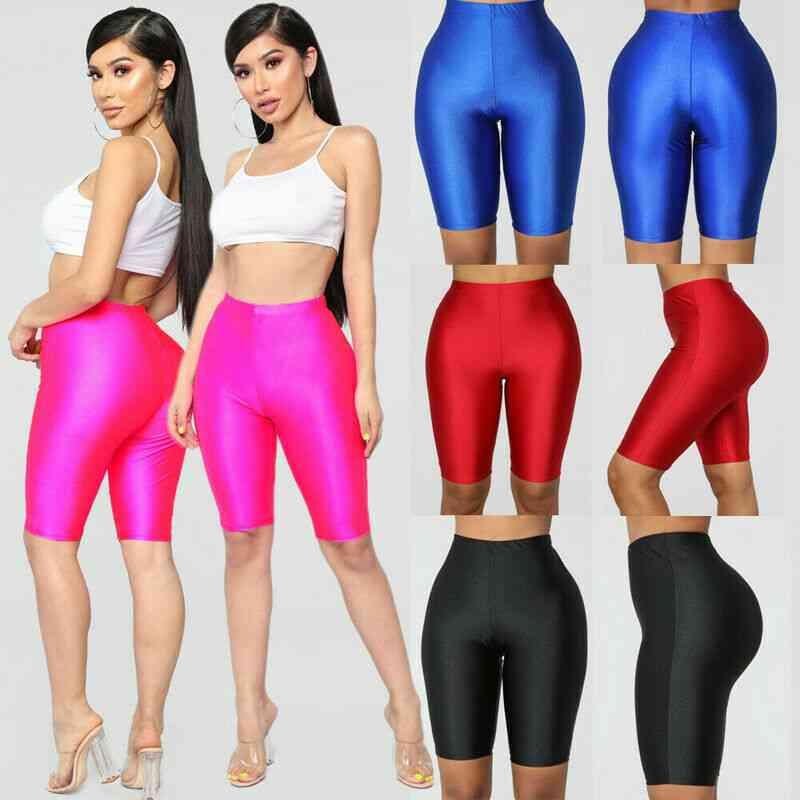 High Waist Elastic Active Seamless Shorts For Women